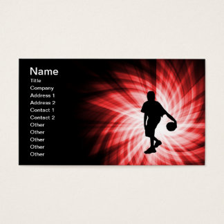 Basketball Player; Red Business Card