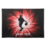 Basketball Player; Red Cloth Placemat