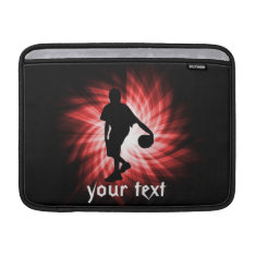 Basketball Player; Red Macbook Air Sleeve at Zazzle