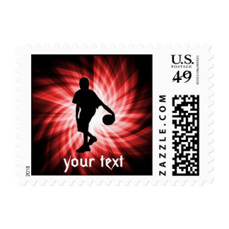 Basketball Player; Red Postage