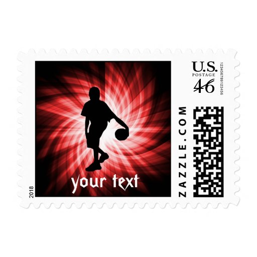 Basketball Player; Red Stamps