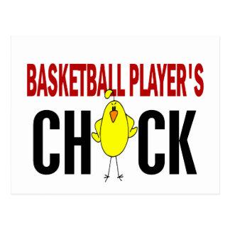 BASKETBALL PLAYER'S CHICK POSTCARD