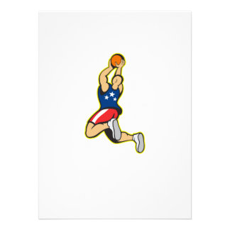 Basketball Player Shooting Jumping Ball Custom Invitation