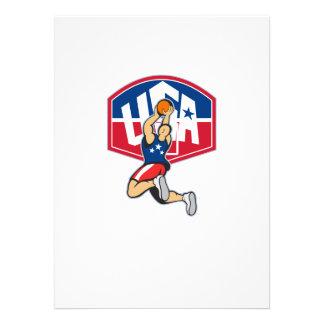 Basketball Player Shooting Jumping Ball Custom Invites