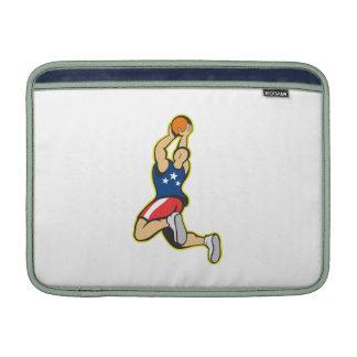 Basketball Player Shooting Jumping Ball MacBook Air Sleeve