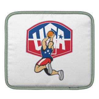 Basketball Player Shooting Jumping Ball iPad Sleeves
