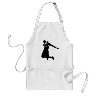 Basketball Player Silhouette Adult Apron