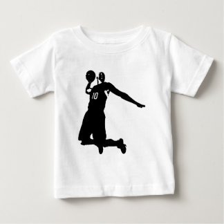 Basketball Player Silhouette Baby T-Shirt
