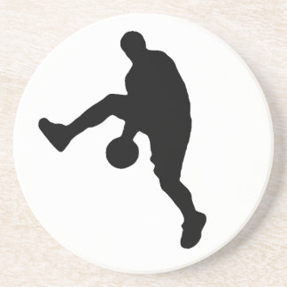 Basketball Player Silhouette Drink Coaster