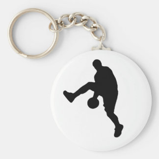 Basketball Player Silhouette Keychain