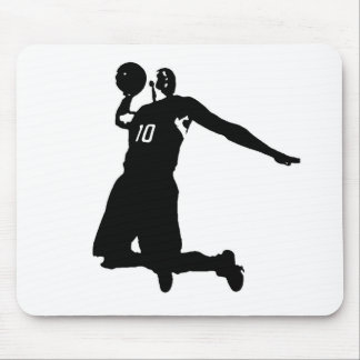Basketball Player Silhouette Mouse Pad