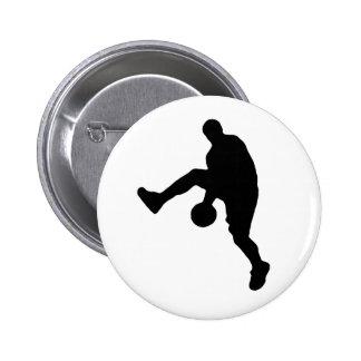 Basketball Player Silhouette Pinback Button