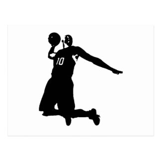 Basketball Player Silhouette Postcard