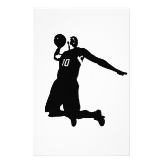 Basketball Player Silhouette Stationery