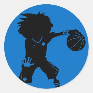 Basketball Player Silhouette Sticker