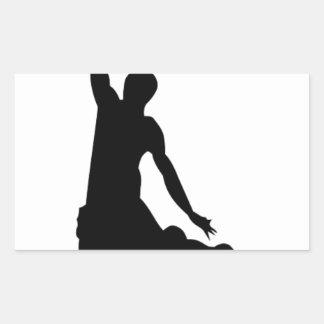 Basketball player silhouette rectangular sticker