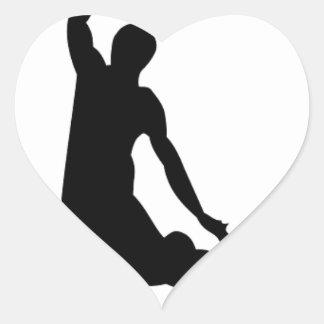 Basketball player silhouette heart sticker