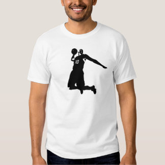 Basketball Player Silhouette Tee Shirt