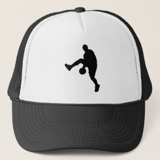 Basketball Player Silhouette Trucker Hat