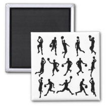 Basketball Player Silhouettes Magnet
