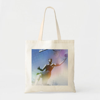 Basketball Player Slam Dunk Canvas Bags