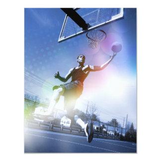 Basketball Player Slam Dunk Card