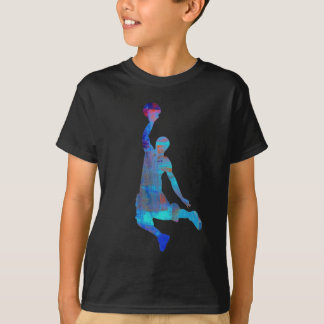 Basketball Player Slam Dunk Kids Shirt