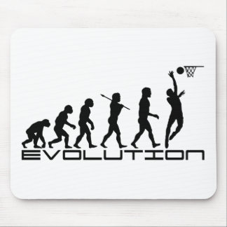 Basketball Player Sport Evolution Art Mouse Pad