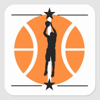Basketball Player Square Sticker