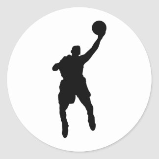 Basketball Player Round Sticker