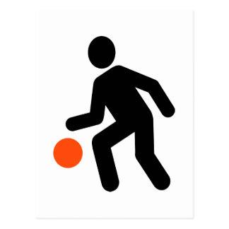 Basketball Player symbol Postcard