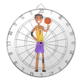 Basketball Player Turning Ball On A Finger Action Dart Board
