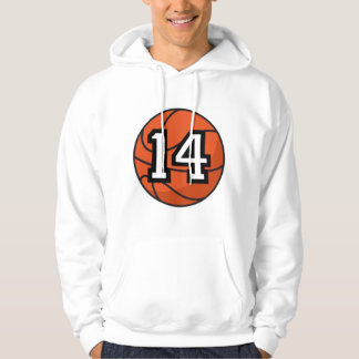Basketball Player Uniform Number 14 Gift Hoodie
