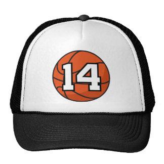 Basketball Player Uniform Number 14 Gift Idea Hat