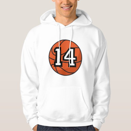 Basketball Player Uniform Number 14 Gift Pullover