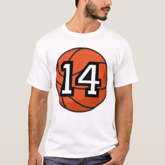 Basketball Player Uniform Number 14 Gift T-Shirt