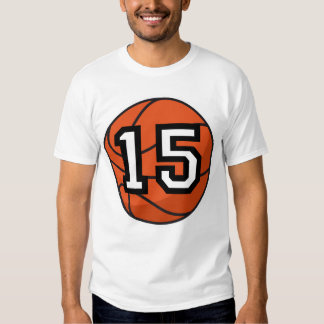 Basketball Player Uniform Number 15 Gift T-shirt