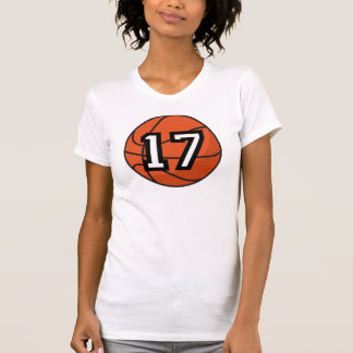 Basketball Player Uniform Number 17 Gift Shirt