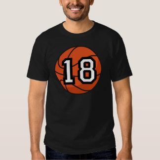 Basketball Player Uniform Number 18 Gift T-shirt