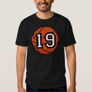 Basketball Player Uniform Number 19 Gift T Shirt
