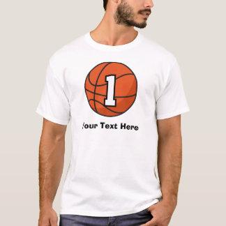 Basketball Player Uniform Number 1 Gift Idea T-Shirt