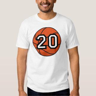 Basketball Player Uniform Number 20 Gift T Shirt