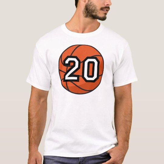 Basketball Player Uniform Number 20 Gift T-Shirt