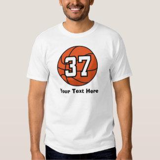 Basketball Player Uniform Number 37 Gift Idea Tee Shirt