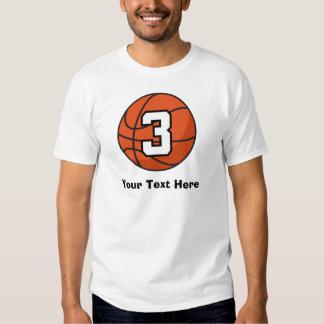 Basketball Player Uniform Number 3 Gift Idea Tee Shirt