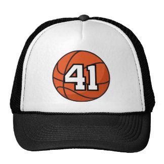 Basketball Player Uniform Number 41 Gift Idea Trucker Hats