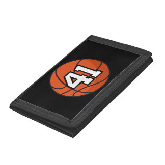 Basketball Player Uniform Number 41 Gift Idea Tri-fold Wallets