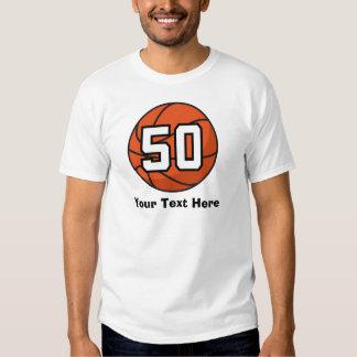 Basketball Player Uniform Number 50 Gift Idea T-shirt
