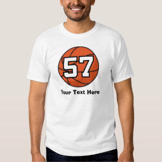 Basketball Player Uniform Number 57 Gift Idea Shirt