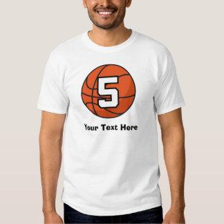 Basketball Player Uniform Number 5 Gift Idea T-shirt